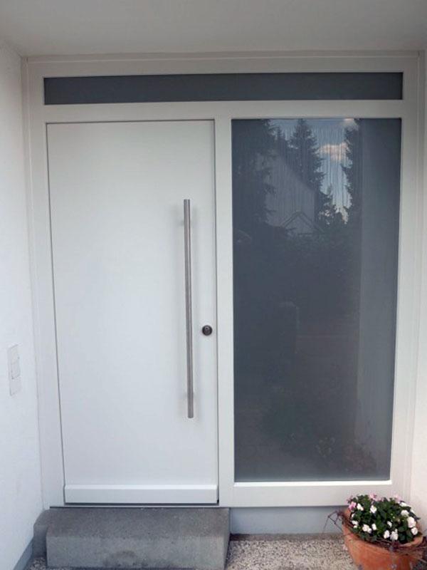 Doppel Haustür in weiß