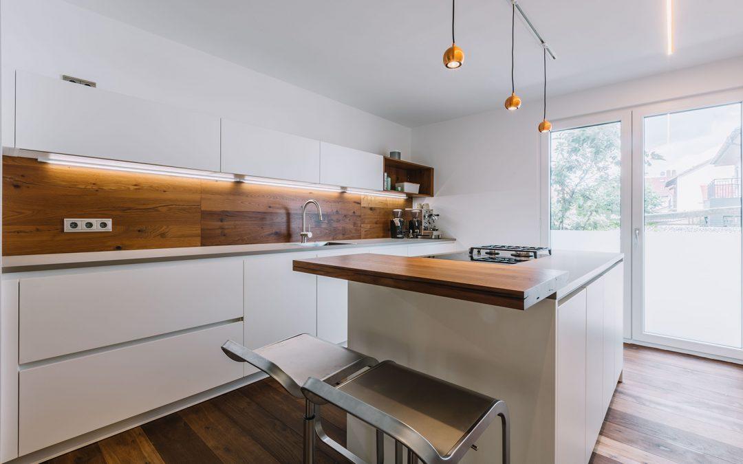 Küche SR Mattlack Weiß
